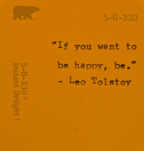 if you want to be happy,be leo tolstoy quote inspirational