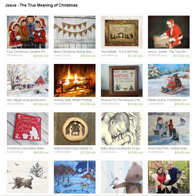 Jesus - The True Meaning Of Christmas, an etsy.com treasury