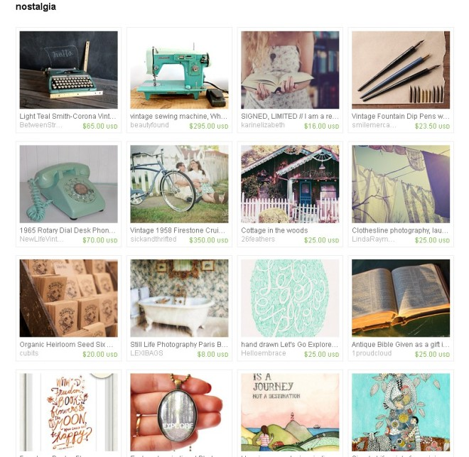 nostalgia etsy treasury
