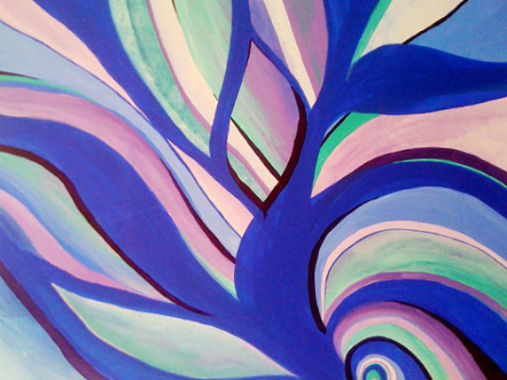 womb original 30x40 painting by cloud9designstusio on etsy purple art aquablue
