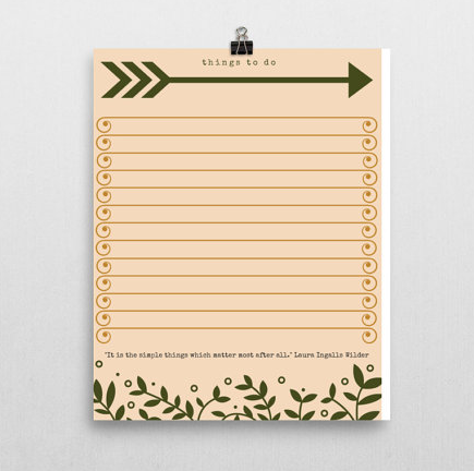 Woodland Wild + Free To Do List Printable